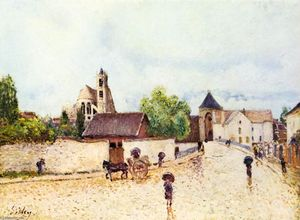 Alfred Sisley - Loing at Moret in the rain