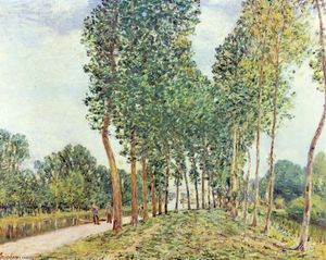 Alfred Sisley - Banche del Loing a Moret