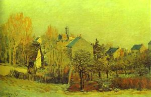 Alfred Sisley - gelo in louveciennes