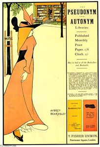 Aubrey Vincent Beardsley - Pubblicità manifesto per The Yellow Book