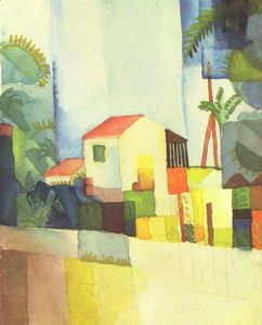 August Macke - luminoso casa