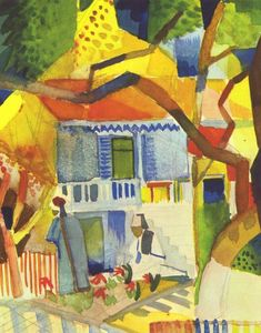 August Macke - Cortile interno of house a st .  Germain