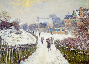 Claude Monet - Viale Saint-Denis , Argenteuil , in inverno