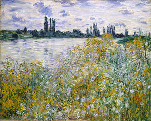 Claude Monet - Isle of Flowers on Siene vicino Vetheuil
