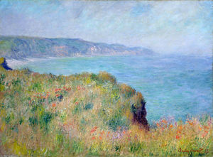 Claude Monet - Cliff vicino a Pourville