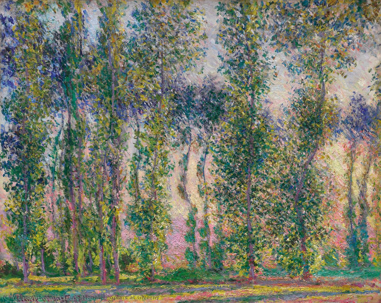 Pioppi a Giverny, 1887 di Claude Monet (1840-1926, France)