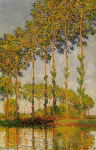 Claude Monet - pioppi riga come autunno