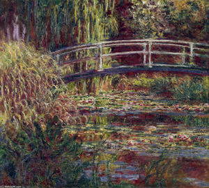 Claude Monet - il ponte giapponese ( Il Water-Lily Stagno , sinfonia in rose )