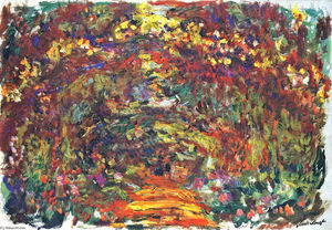 Claude Monet - Percorso sotto il rose Trellises , Giverny