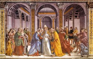 Domenico Ghirlandaio - matrimonio di mary