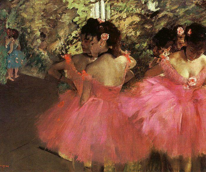 ballerini in rosa, 1885 di Edgar Degas (1834-1917, France)