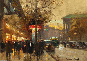Edouard Cortes - La Madeleine in crepuscule look from Viale