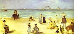Edouard Manet - spiaggia a boulogne
