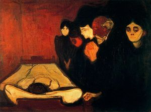 Edvard Munch - Con il Deathbed (Fever)