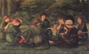 Edward Coley Burne-Jones - verde estate