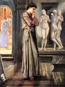 Edward Coley Burne-Jones - Il cuore desidera, Pigmalione