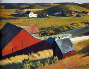 Edward Hopper - Cobbs Barns e case lontane