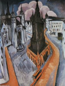 Ernst Ludwig Kirchner - il rosso torre a halle