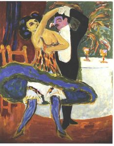 Ernst Ludwig Kirchner - inglese danza coppia