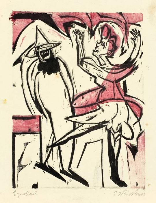 ballo, 1926 di Ernst Ludwig Kirchner (1880-1938, Germany) | WahooArt.com
