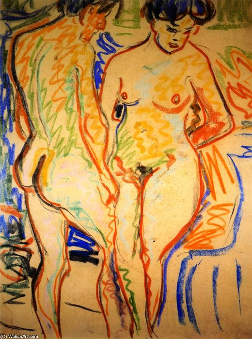 coppia, 1908 di Ernst Ludwig Kirchner (1880-1938, Germany) | WahooArt.com