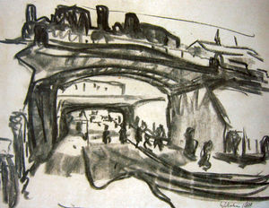 Ernst Ludwig Kirchner - due ferrovia ponti in dresda