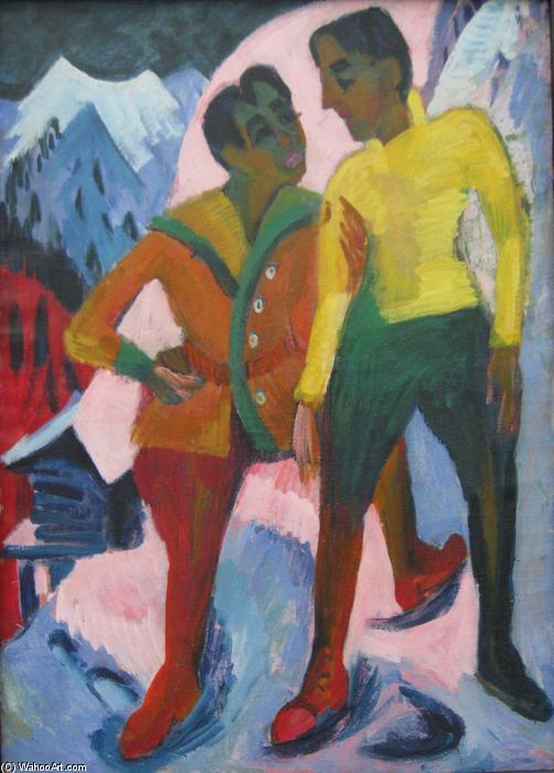 due fratelli, 1921 di Ernst Ludwig Kirchner (1880-1938, Germany) | WahooArt.com