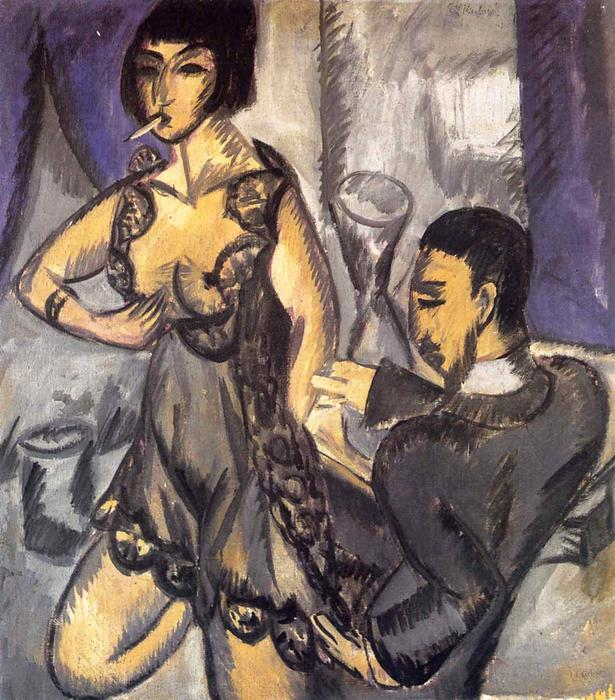 coppia in un camera di Ernst Ludwig Kirchner (1880-1938, Germany) | WahooArt.com