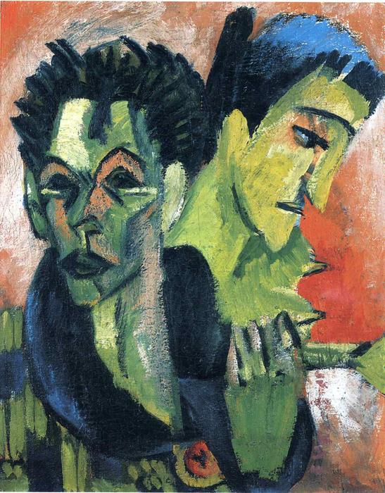 Douple Autoritratto di Ernst Ludwig Kirchner (1880-1938, Germany)