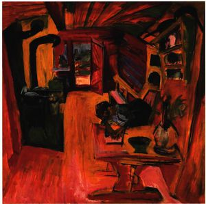 Ernst Ludwig Kirchner - cucina in un alpino capanna