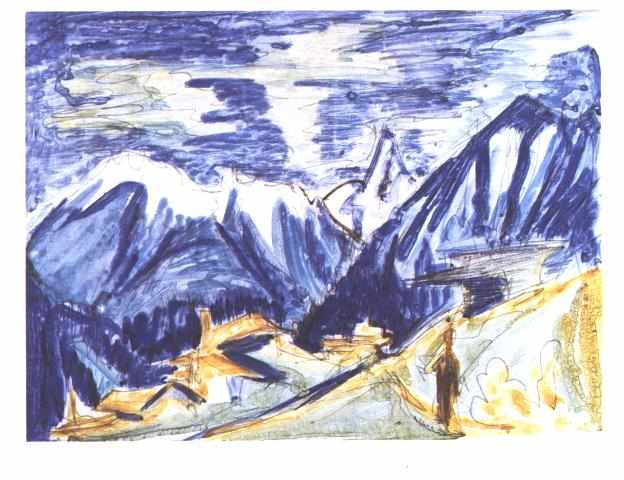 Staffelalp nel Autunno di Ernst Ludwig Kirchner (1880-1938, Germany)