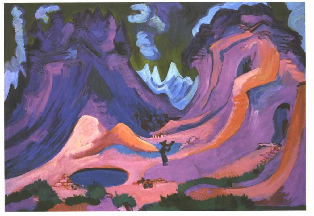Il Amselfluh di Ernst Ludwig Kirchner (1880-1938, Germany)