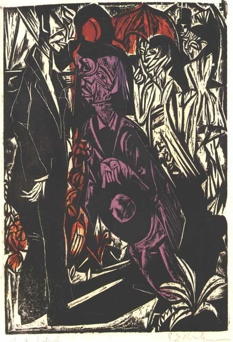 il `selling` del ombra di Ernst Ludwig Kirchner (1880-1938, Germany)