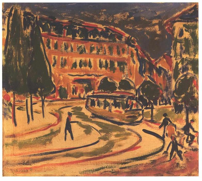 Tram a Dresda di Ernst Ludwig Kirchner (1880-1938, Germany)
