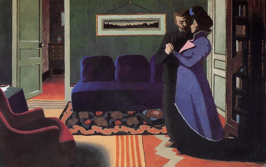 il visita, null di Felix Vallotton (1865-1925, Switzerland)