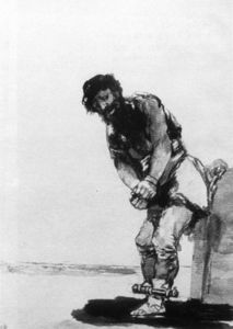 Francisco De Goya - Prigioniero Chained