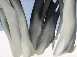 Georgia O-keeffe - Bare Tree Trunks con neve