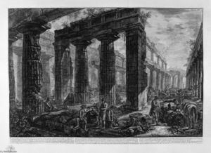 Giovanni Battista Piranesi - all'interno il lo stesso tempio