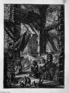 Giovanni Battista Piranesi - La scala con  trofei