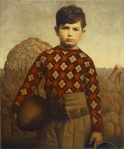 Grant Wood - Plaid Maglione