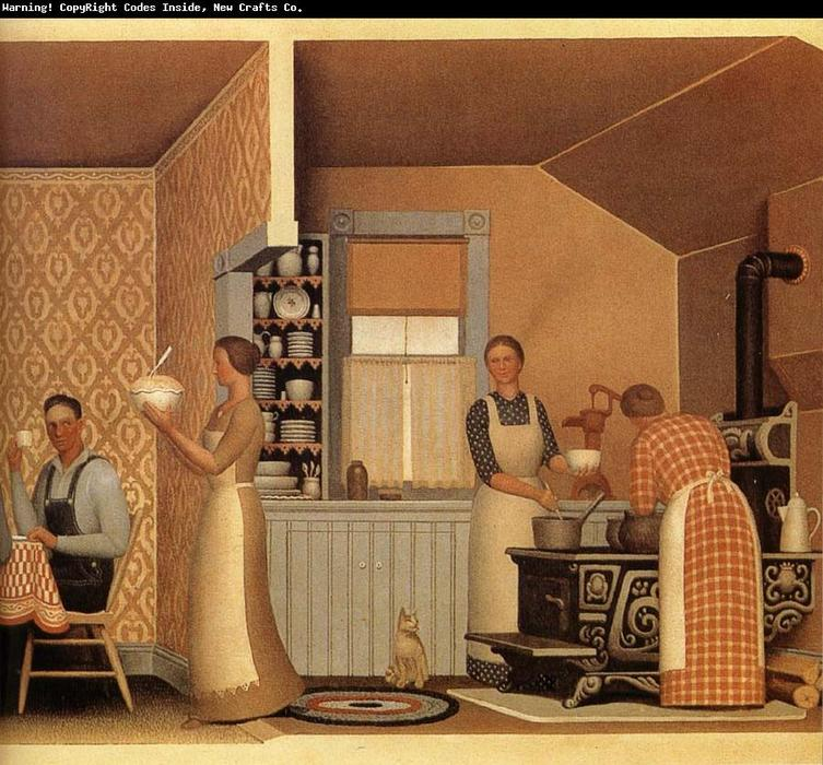 Cena per Threshers, 1934 di Grant Wood (1891-1942, United States)