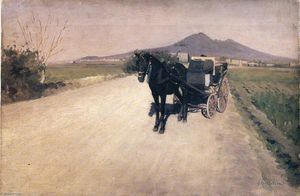 Gustave Caillebotte - a strada in napoli