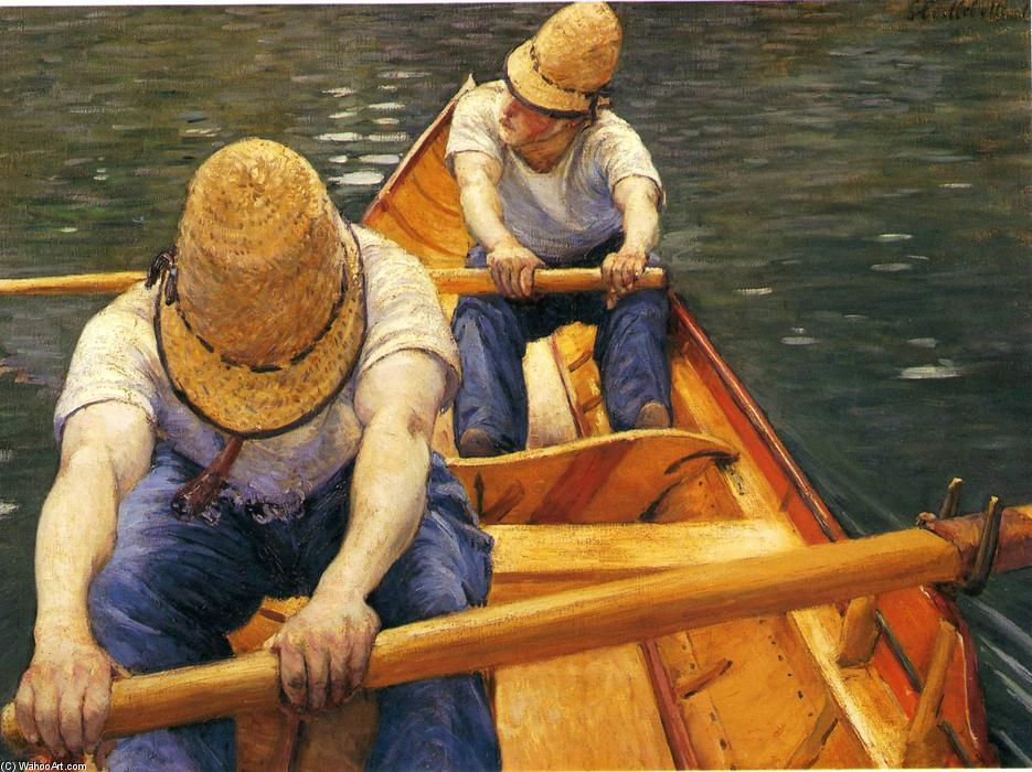 Boaters Canottaggio sulle Yerres, 1879 di Gustave Caillebotte (1848-1894, France) | WahooArt.com