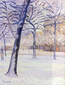 Gustave Caillebotte - parco nel neve