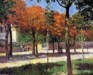 Gustave Caillebotte - quadrato in argenteuil