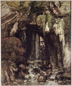 Gustave Courbet - Il Giants Cave da Saillon Svizzera