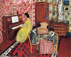 Henri Matisse - Pianista e Checker Giocatori