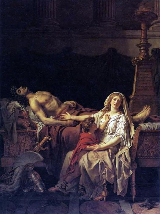 The Pain di Andromaca, olio su tela di Jacques Louis David (1748-1800, France)