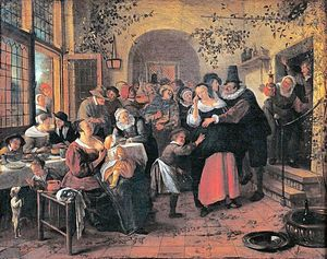 Jan Steen - contadino matrimonio