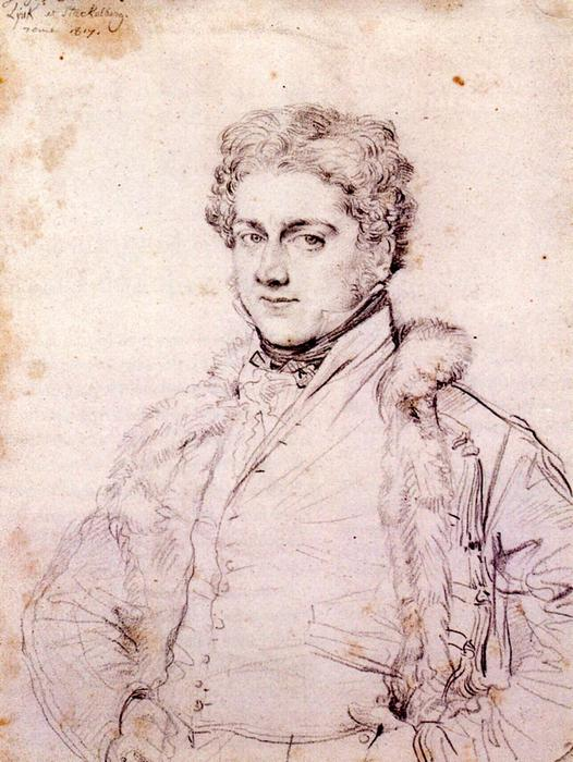 charles robert cockerell, 1817 di Jean Auguste Dominique Ingres (1780-1867, France)